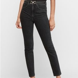 EXPRESS SLIM ANKLE SUPER HIGH RISE JEANS